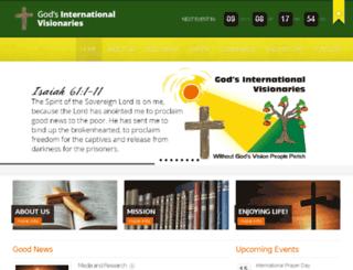 visionariesofgod.com screenshot