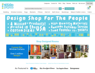 visionbedding.com screenshot