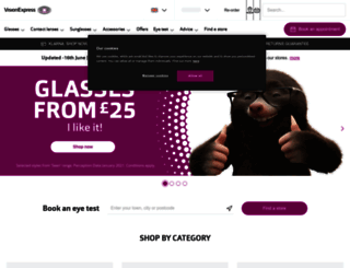 visionexpress.com screenshot