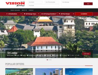 visionholidays.co.in screenshot