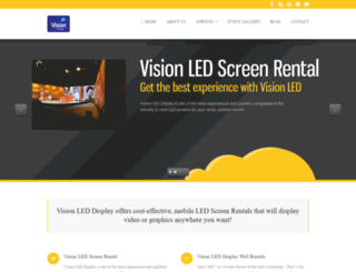 visionleddisplay.com screenshot