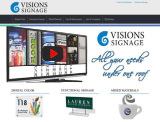 visionssignage.com screenshot