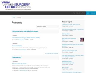 visionsurgeryrehab.evecommunity.com screenshot