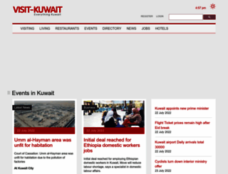 visit-kuwait.com screenshot