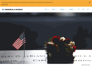 visit.911memorial.org screenshot