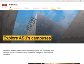 visit.asu.edu screenshot