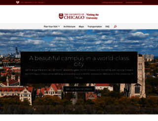 visit.uchicago.edu screenshot
