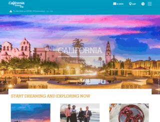 visitcalifornia.co.uk screenshot