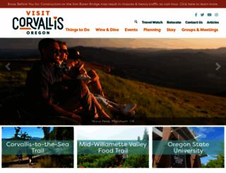 visitcorvallis.com screenshot