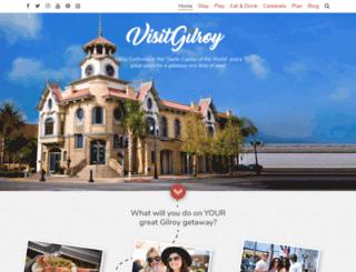 visitgilroy.com screenshot