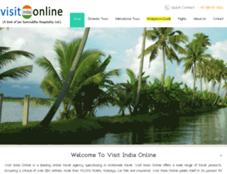 visitindiaonline.co.in screenshot