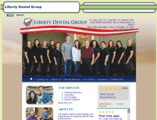 visitlibertydental.mydentalvisit.com screenshot
