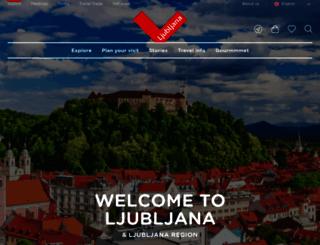 visitljubljana.com screenshot