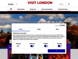 visitlondon.com screenshot