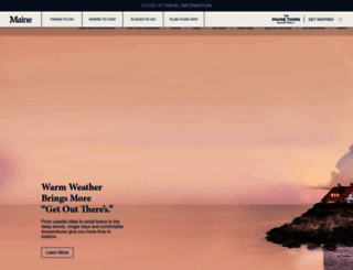 visitmaine.com screenshot
