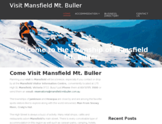 visitmansfieldmtbuller.com.au screenshot