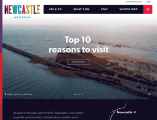 visitnewcastle.com.au screenshot