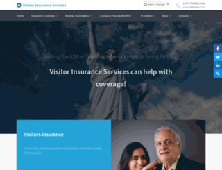 visitorinsuranceservices.net screenshot