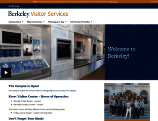 visitors.berkeley.edu screenshot