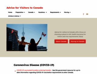 visitorstocanada.com screenshot