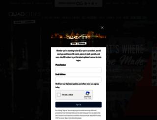visitquadcities.com screenshot
