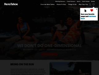 visitrenotahoe.com screenshot