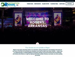 visitrogersarkansas.com screenshot