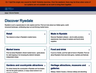 visitryedale.co.uk screenshot