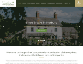 visitshropshirehotels.com screenshot