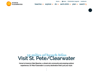 visitstpeteclearwater.com screenshot