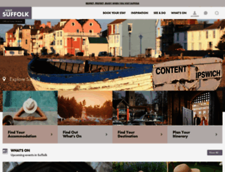 visitsuffolk.com screenshot