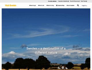 visitsweden.com screenshot