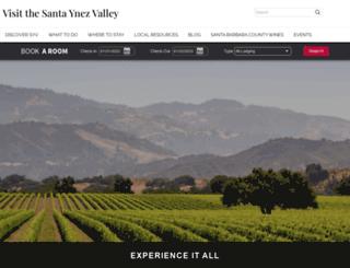 visitthesantaynezvalley.com screenshot