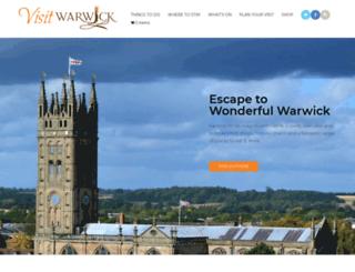 visitwarwick.co.uk screenshot