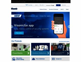 visonic.com screenshot