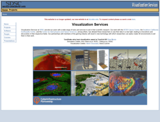 visservices.sdsc.edu screenshot