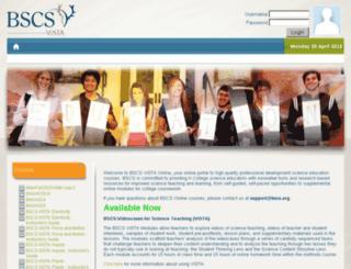 vista.bscs.org screenshot