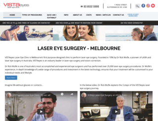 vistaeyes.com.au screenshot