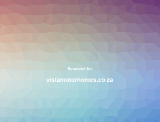 vistamotorhomes.co.za screenshot