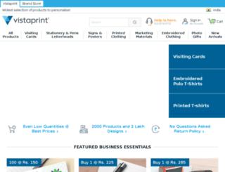 vistaprint.co.in screenshot