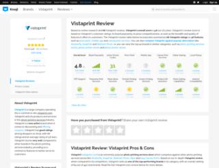 vistaprint.knoji.com screenshot