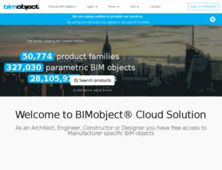 vistosi.bimobject.com screenshot