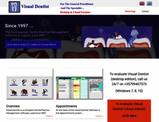 visualdentist.com screenshot