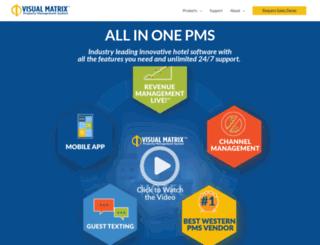 visualmatrixpms.com screenshot