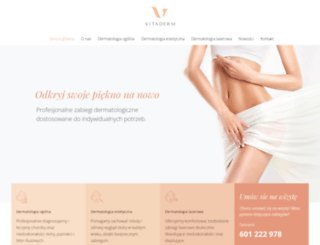 vitaderm.pl screenshot