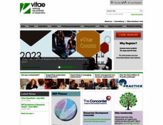 vitae.ac.uk screenshot