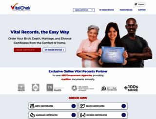 vitalchek.com screenshot