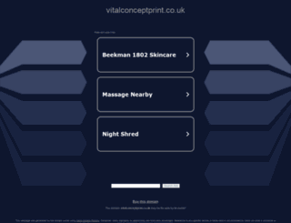vitalconceptprint.co.uk screenshot