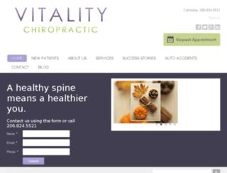 vitalitychiropractic.chiromatrixbase.com screenshot