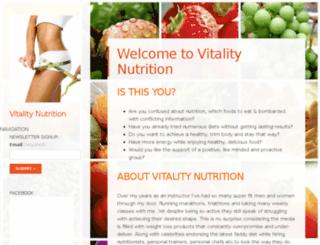 vitalitynutritiondotorg.wordpress.com screenshot